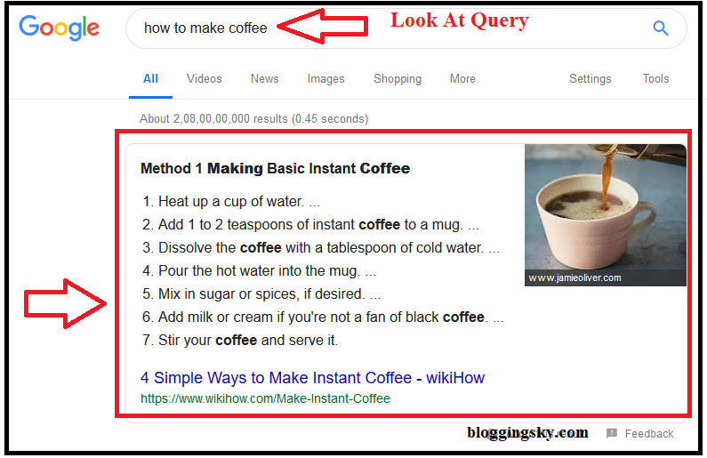 List Google Snippets