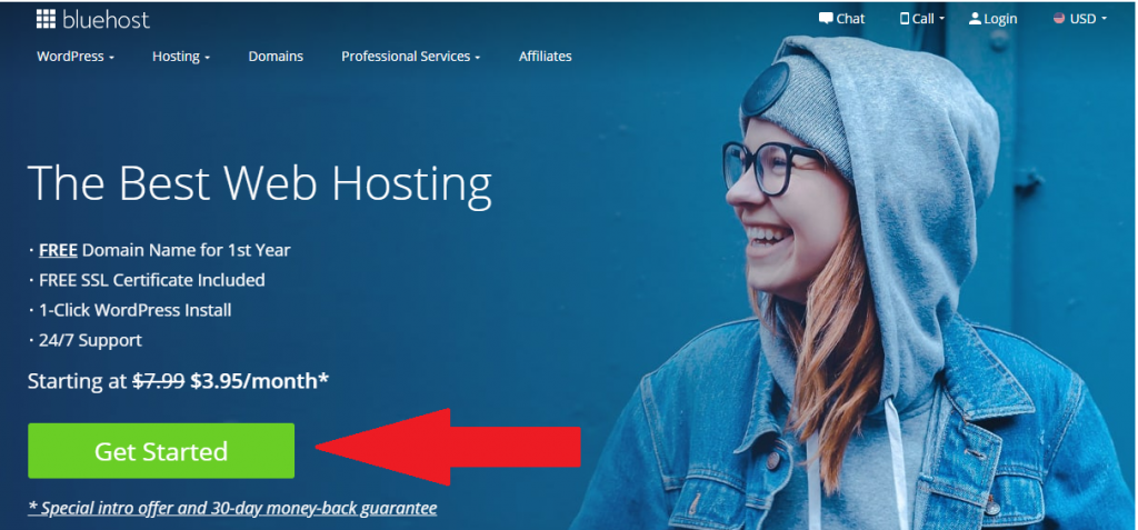 Bluehost Get started