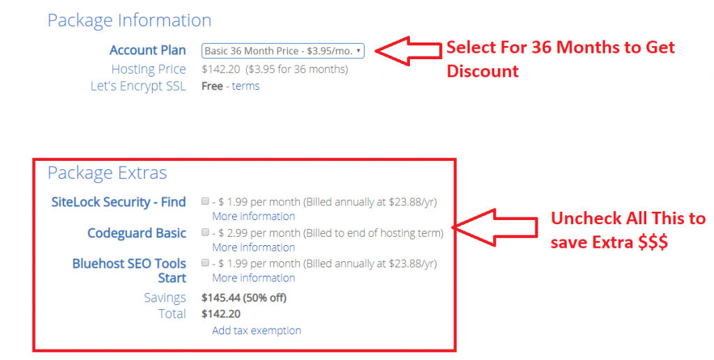Bluehost Discount Plan