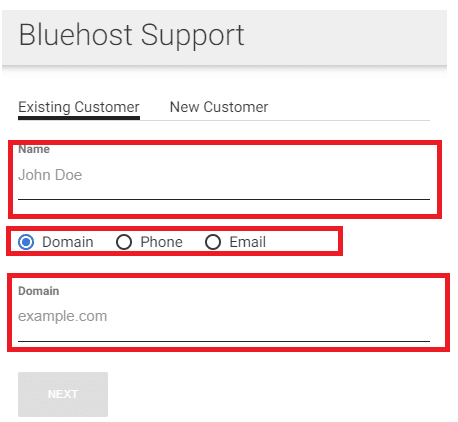 live chat support form