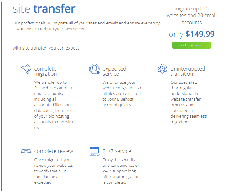 site migration service fees