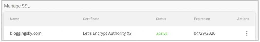 SSL installed