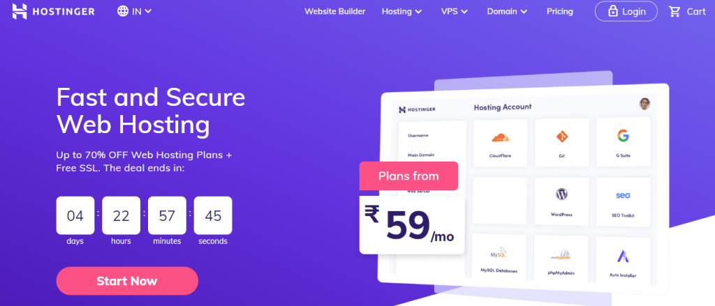 Hostinger.in web hosting