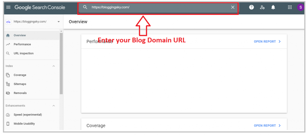Inspect your Blog URL