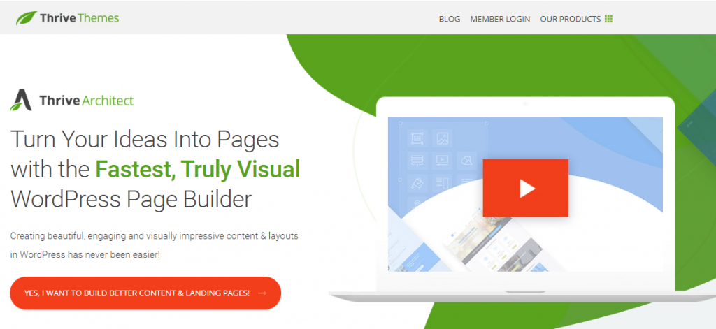 Thrive Architect WordPress Landing Page Plugin