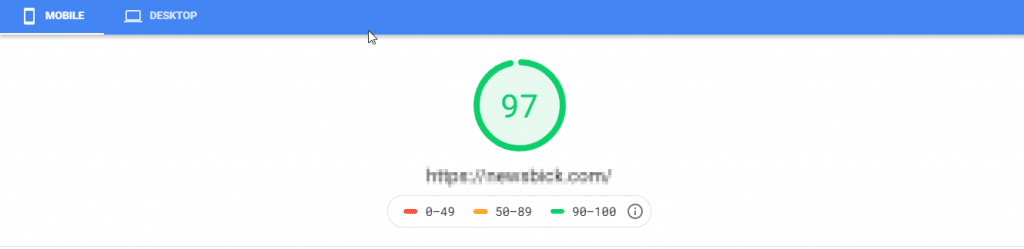 HostArmada - PageSpeed Insights Mobile Speed Score