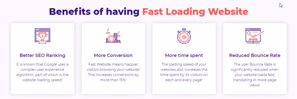 HostArmada - Benefits of Fast Loading Website